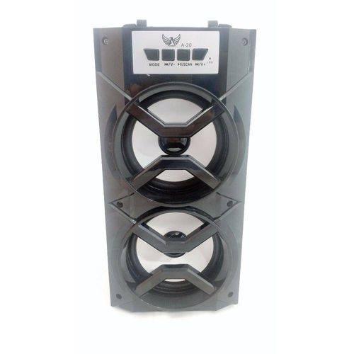 Caixa Som Amplificada Rádio Bluetooth Usb Sd Fm Potente Leds