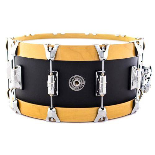 Caixa Taye Metalworks Aluminum Alloy Cold Hammered 14x6¨ Wood Hoop Maple 14-ply