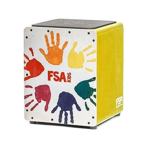 Cajon Acústico Infantil Fsa FK15 Kids Series Amarelo