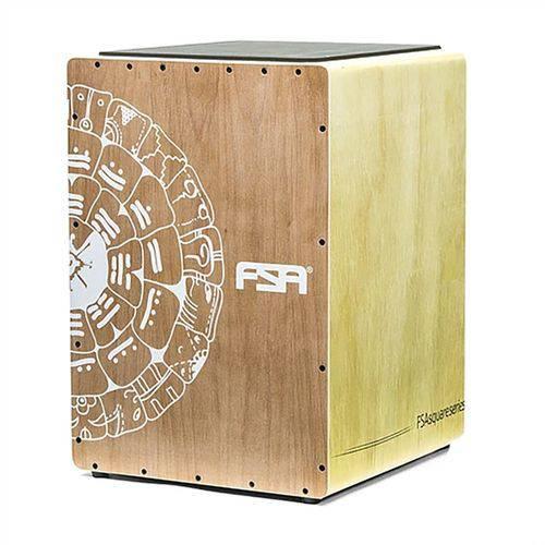 Cajon Eletroacústico Reto Fsa FLC8282 Roda do Sol Captação Dupla