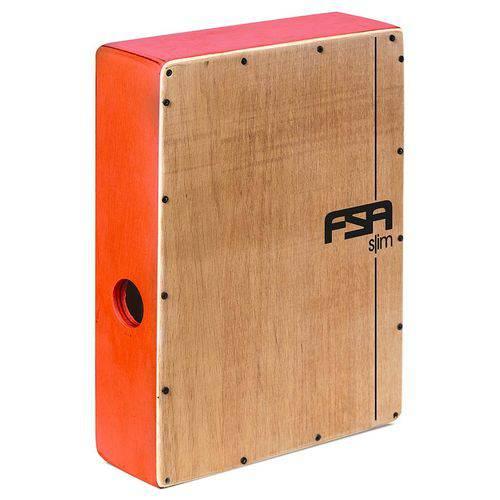 Cajón Fsa Slim Series Csl505 Vermelho Acústico Compacto com Excelente Sonoridade