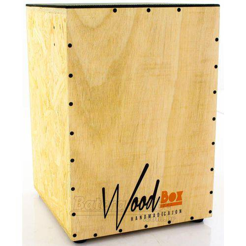 Cajón Wood Box Cashier Ac Acústico Reto com Alça de Transporte e Duto Ssor