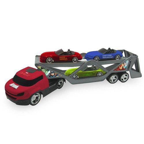 Caminhão Cegonheira com 4 Carros Avengers - Toyng