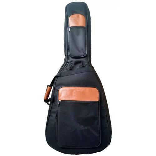 Capa Acolchoada para Violão Folk Takamine Titanium Preto