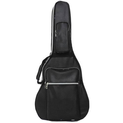 Capa Bag Acolchoada para Violão Folk 12 Cordas Couro Premium