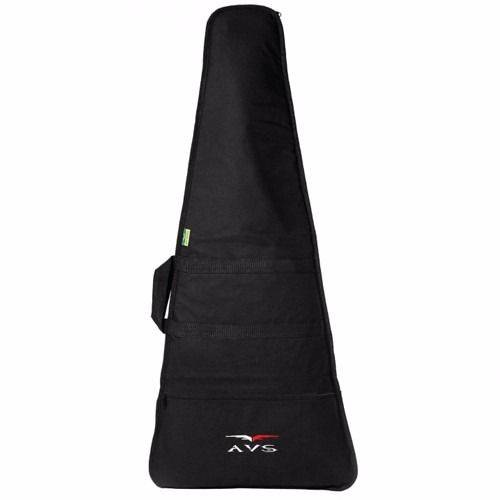 Capa Bag Super Luxo Guitarra Fly V Acolchoado Mochila Avs