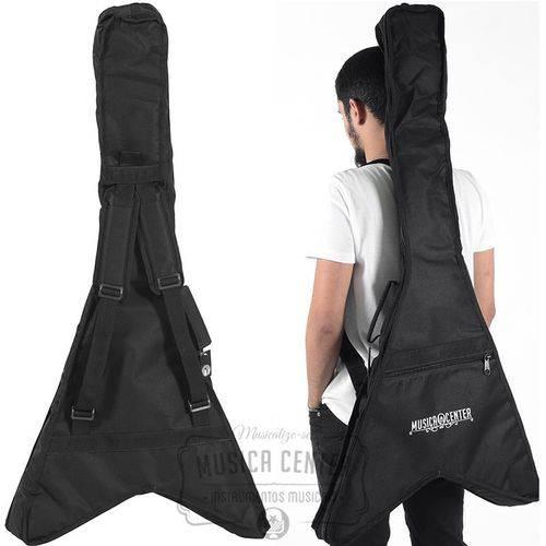 Capa Bag Guitarra Fly Flying V Acolchoada Nylon 600 Reforçad