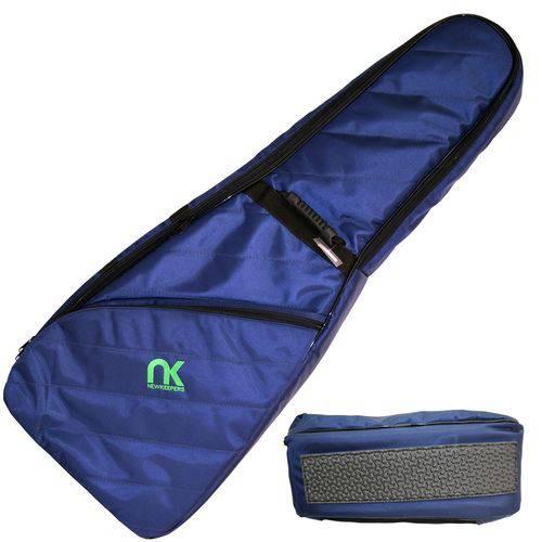 Capa Bag para Guitarra Maxipro Azul Super Proteção Newkeepers