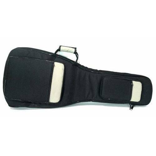 Capa Bag Semi Case Guitarra Cinza Master Luxo