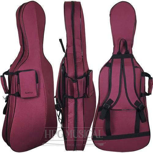 Capa Bag Violoncelo Tarttan Slim 4/4 Bordô