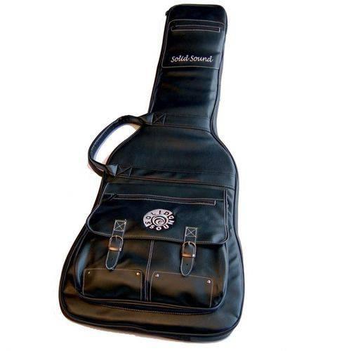 Capa de Couro para Guitarra Solid Sound LT Vintage Preta