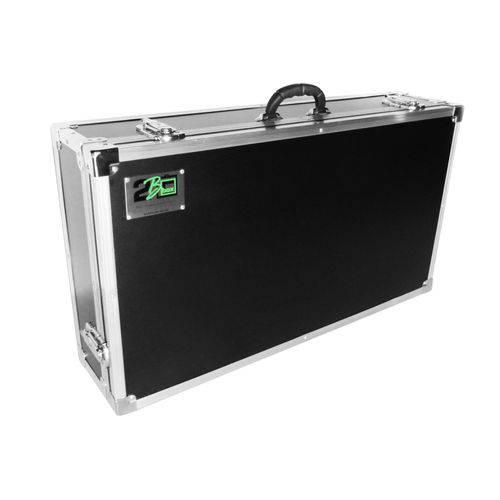 Case para Kit Cdj Mixer Pioneer 350 2B Box Preta e Cromada