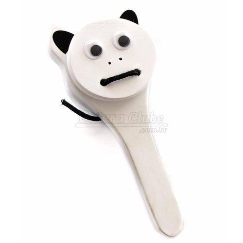 Castanhola Jog Vibratom Urso Panda P4148 com Cabo (musicalização Infantil)