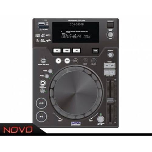 Cd Player DJ Napoli Profissional Cdj-5800 Leitura de Cd e Sd