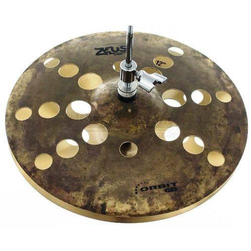 Chimbal Zeus Orbit Zfx Series 12¨ em Bronze B20 Hihat de Efeito Estilo O-zone Zohh12