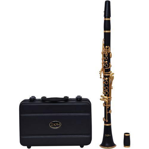Clarineta Sib Zion By Plander Cl530gk Resina Imitação Ébano