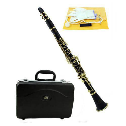 Clarinete Sib 17 Chaves Douradas Konig Kc 450 Estojo de Luxo