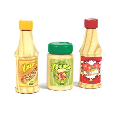 Coleção Comidinha Ketchup, Mostarda e Maionese
