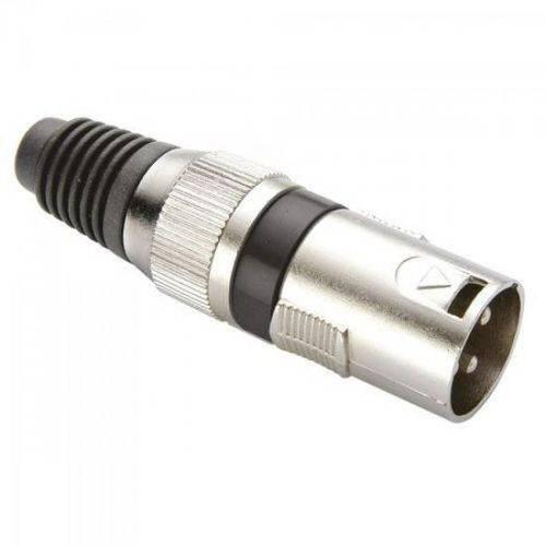 Conector Cannon Macho Corpo Metálico YS1058A Preto