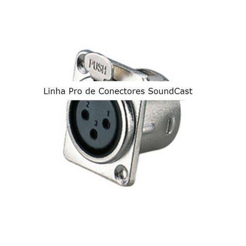 Conector Fêmea de Painel Xlr Xlr120 - Soundcast