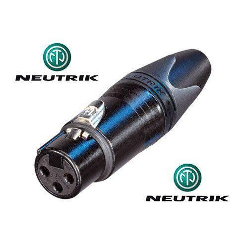 Conector Neutrik Xlr Linha Femea Nc3fxx-bag (preto)