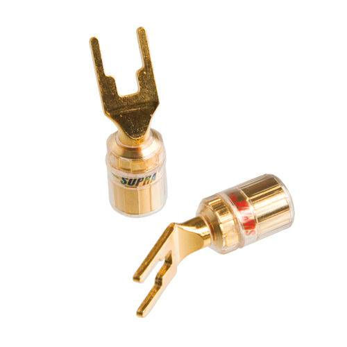 Conector Plug Forquilha Combicon Supra Cables (2 Pares)