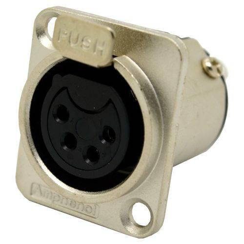 Conector XLR Femea Painel 4 Polos AC-4 FP - Amphenol
