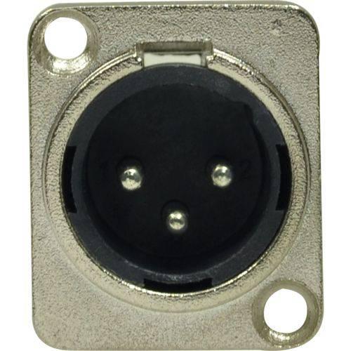 Conector Xlr Macho Embutir Niquelado Loud