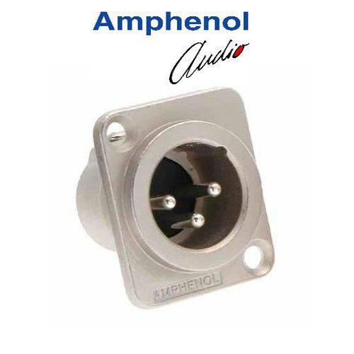 Conector Xlr 3p Macho Painel Amphenol Ac3mmdz/n