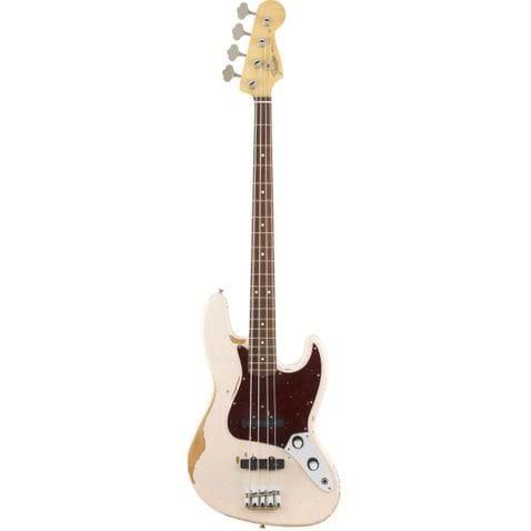 Contrabaixo 4c Fender Sig Series Flea Road Worn Jazz Bass 356 - Shell Pink