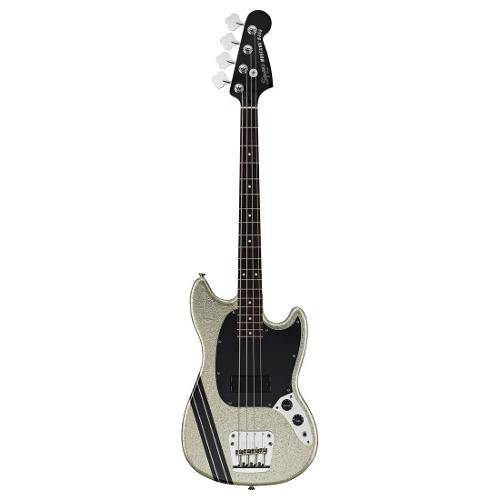 Contrabaixo Fender 030 1082 - Squier Mikey Way Mustang Bass - 517 - Flake Silver Sparkle