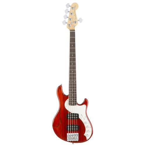 Contrabaixo Fender - Am Elite Dimension Bass V Hh - Cayenne