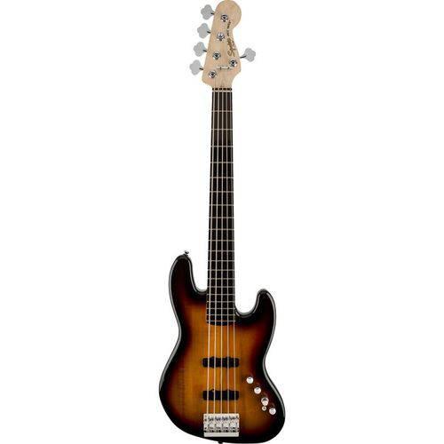 Contrabaixo Fender Squier Deluxe Jazz Bass V Ativo Sunburst