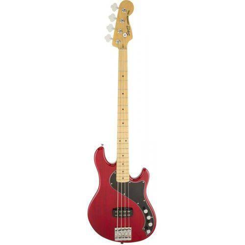 Contrabaixo Squier By Fender Deluxe Dimension Iv Active Crimson Red Transparent