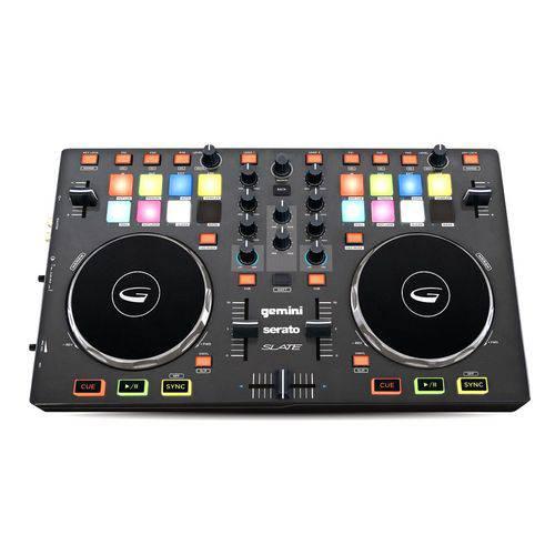 Controladora DJ 4 Canais Serato DJ Intro Gemini SLATE4