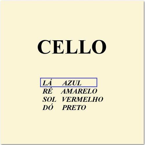 Corda Avulsa 1ª La para Cello Mauro Calixto