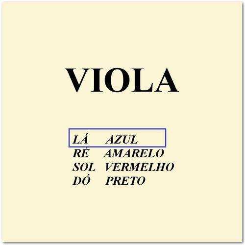 Corda Avulsa 1ª La para Viola de Arco Mauro Calixto