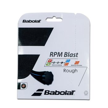 Corda Babolat RPM Blast Rought 125 17 Set Individual Preta
