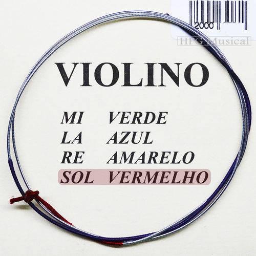 Corda Violino Mauro Calixto 4/4 - 4ª Sol G