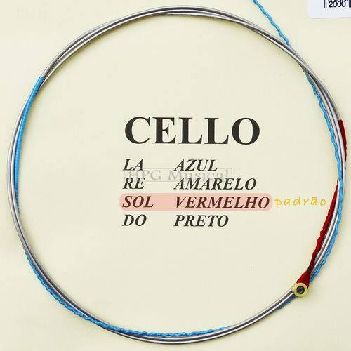 Corda Violoncelo Mauro Calixto Padrão 3ª Sol G Cello 4/4