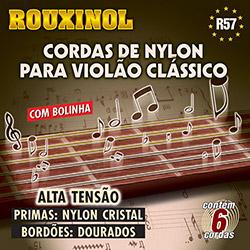 Cordas de Nylon com Bolinhas para Violão Tensão Alta - Rouxinol