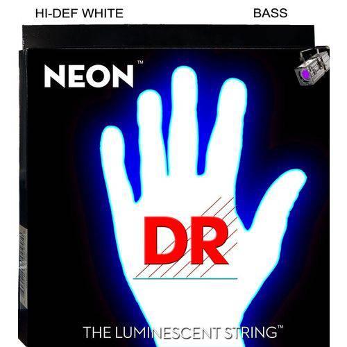 Cordas P/ Baixo 5 Cordas Dr Strings Nwb5-40 Branca Neon
