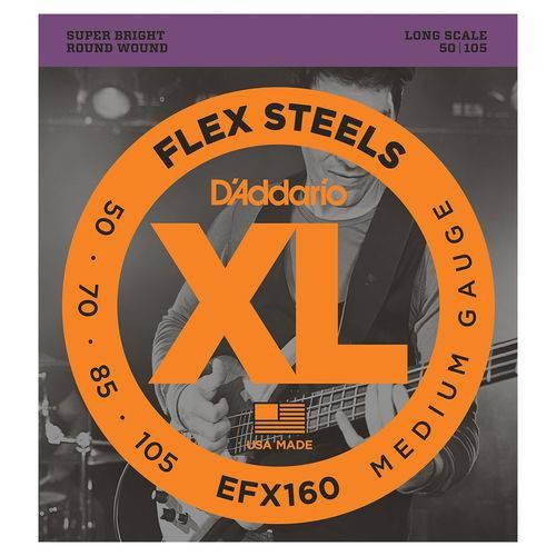 Cordas P/ Baixo Daddario Flex Steels EFX160 050/150