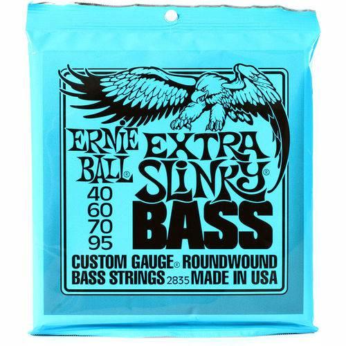 Cordas P/ Baixo Ernie Ball 4C Nickel Extra Slinky 2835 40/95