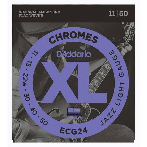 Cordas P/ Guitarra Daddario Chromes Ecg24 011/050