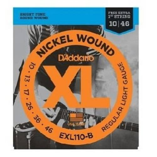 Cordas P/ Guitarra Nickel Exl110-B 010/046 Daddario