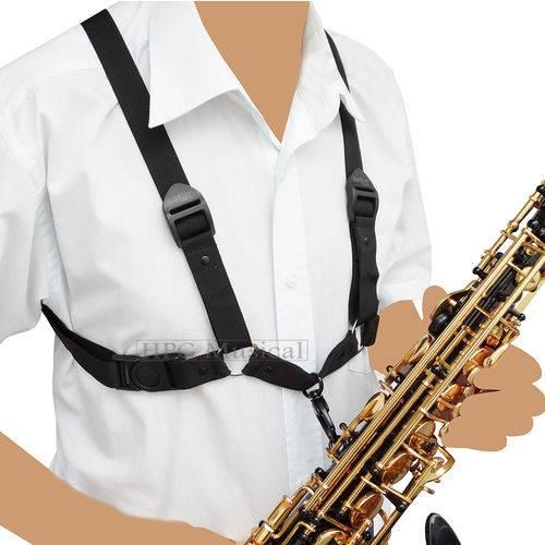 Correia Barkley Suspensório Preta Sax Alto Tenor Barítono