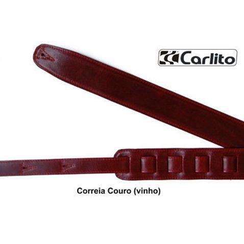 Correia Carlito Couro 6 Cm - Vermelha