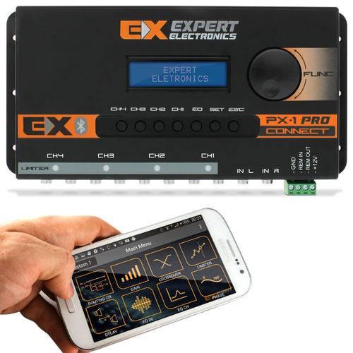 Crossover Expert PX1 Connect 4 Canais Processador de Áudio Digital Equalizador Bluetooth