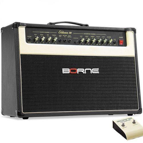 Cubo Amplificador Guitarra Borne Evidence 100 100w Rms C/ Footswitch
